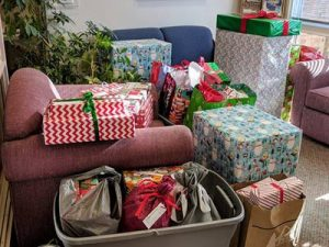 Family Ties Mission gift donations from Kirk of Kildaire Presbyterian church in Cary NC