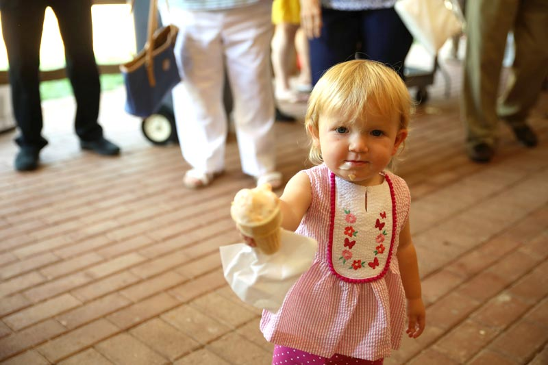 Child at Peach on the Porch Event at Kirk of Kildaire Presbyterian Church in Cary NC