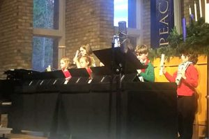 Genisis Chime Tone Ringers - Children at Kirk of Kildaire Presbyterian, a church in Cary NC