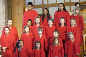 Children's Choir at Kirk of Kildaire Presbyterian, a church in Cary, North Carolina