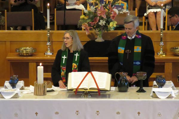 Communion at Kirk of Kildaire Worship Service