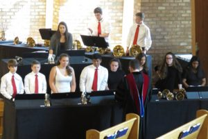 Youth Handbell Choir at Kirk of Kildaire Presbyterian, a church in Cary NC