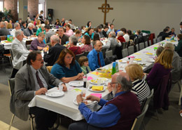 Church-wide lunch at Kirk of Kildaire Presbyterian Church in Cary NC