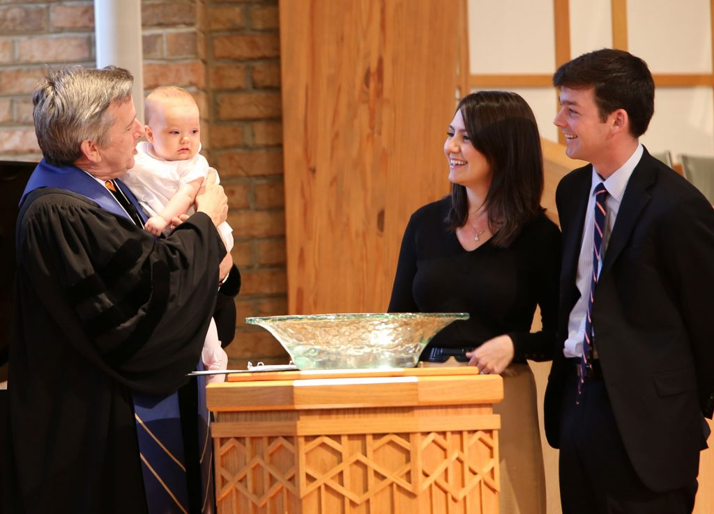Baptism at Kirk of Kildaire Presbyterian Church in Cary NC