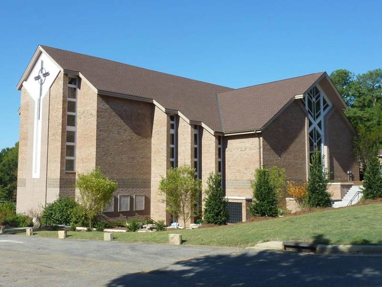 Location of job opportunity - Exterior of church Kirk of Kildaire Presbyterian Cary NC