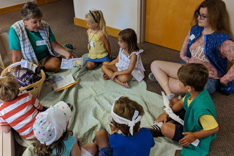 Small children learning and growing at Kirk of Kildaire Presbyterian, chruch in Cary, NC