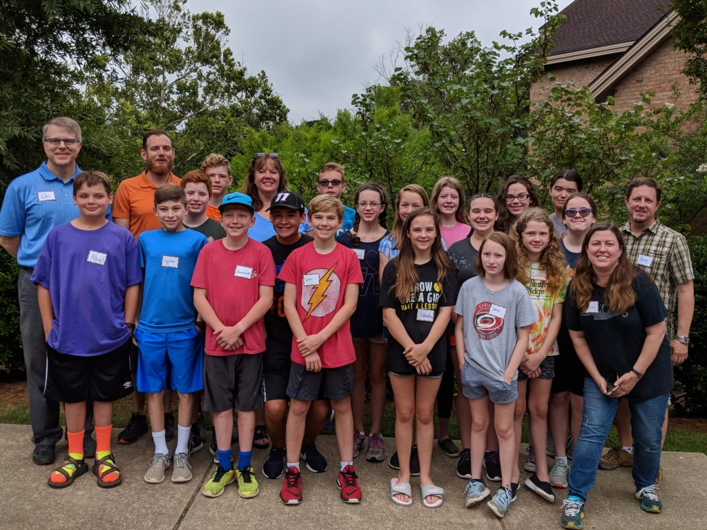 Middle School Youth Massenetta Retreat funded in part by Endowment Funds 2018
