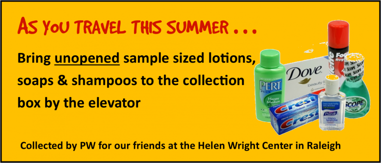 Toiletries Collection for Helen Wright Center