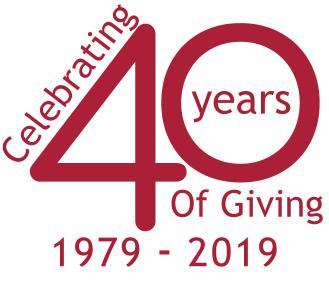 40 Years of Giving graphic